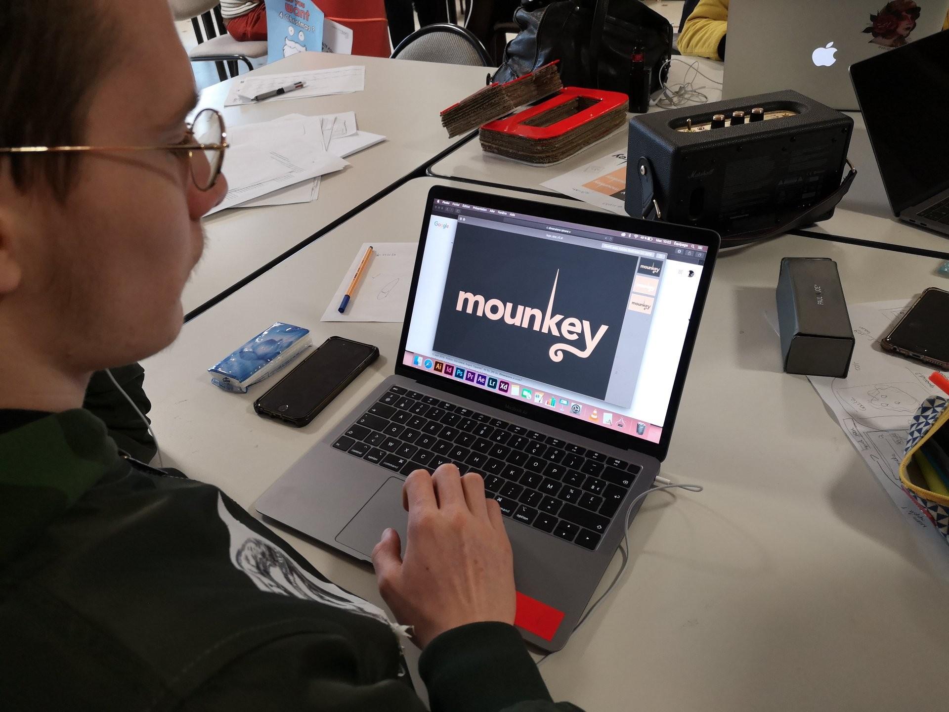 Design logo mounkey institut