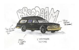voiture corbillard dessin