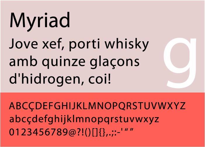 Myriad_Exemple typographie