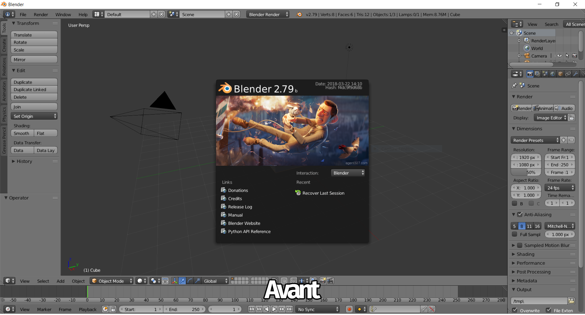 capture d'écran logiciel blender 2